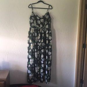 Plus Size Floral Romper Dress